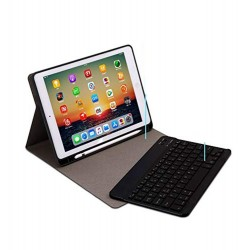 Bluetooth English Keyboard Case Folio Cover for Apple iPad 6 / 7 /8