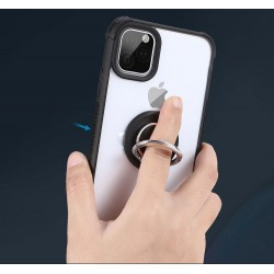 360 Degree Rotating Magnetic Ring Kickstand Transparent TPU Phone Case with Holder Stand For Apple iPhone 11 Pro Max 6.5inch