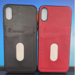 Back Phone Case with Dual Card Holder Slot For Apple iPhone X / Xs / iPhone 10 (5.8)""