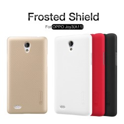 OPPO A11 Joy3 Super Frosted Shield Back Hard Case With LCD Protector [Black Color]